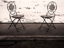 Two empty chairs royalty free stock photo