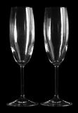 Two empty champagne glasses Royalty Free Stock Image