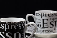 Two empty coffee cups Royalty Free Stock Image