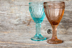 Two empty crystal wineglasses Royalty Free Stock Images
