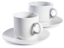 Two empty cups Stock Image