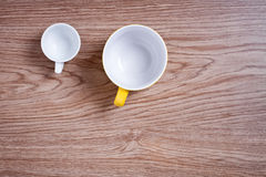 Two empty cups Stock Photography