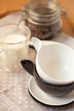 Two empty cups Royalty Free Stock Photo