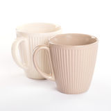 Two empty cups of tea Stock Image