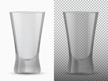 Two empty cups transparent and opaque. Vector illustration Stock Photos