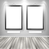 Two empty frames on a wall Royalty Free Stock Images