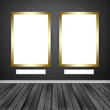 Two empty frames on a wall Stock Image