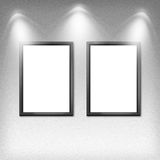 Two empty frames on a wall Royalty Free Stock Image