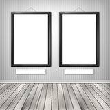 Two empty frames on a wall Stock Photo