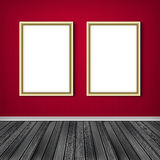 Two empty frames on a wall. High resolution texture Royalty Free Stock Photos