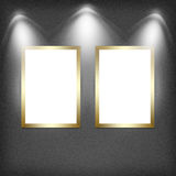 Two empty frames on a wall Royalty Free Stock Photography