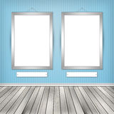 Two empty frames on a wall. High resolution texture Stock Photography