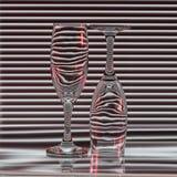 Two empty glasses Stock Image
