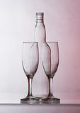 Two empty glasses Royalty Free Stock Photo