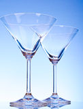 Two empty glasses of martini Royalty Free Stock Photo