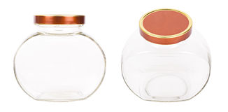 Two empty jars for a coffee Stock Photos