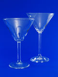 Two Empty Martini Glasses Stock Photography