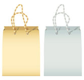 Two empty paper shopping bag Royalty Free Stock Images
