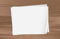 Two empty papers Stock Photography