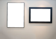 Two empty picture frames Stock Photo