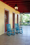 Two empty rocking chairs Stock Photo