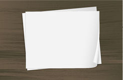 Two empty sheets of bondpapers Stock Photo