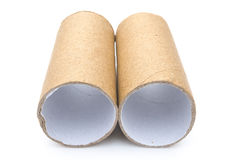 Two empty toilet rolls Stock Photo