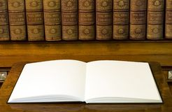 Two empty white pages in book Royalty Free Stock Photography