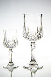 Two Empty wine glass. Royalty Free Stock Photography