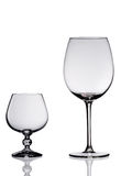 Two Empty wine glasses. Royalty Free Stock Photos