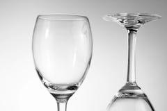 Empty glasses Stock Image