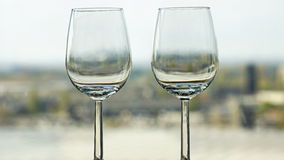 Two empty wine glasses Stock Image