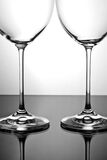 Two empty wineglass Royalty Free Stock Images