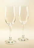 Two empty wineglasses Royalty Free Stock Photos