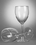 Two empty wineglasses Stock Images