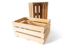 Two empty wooden boxes Stock Photography