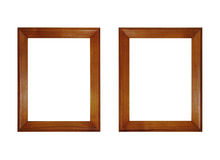 Two empty wooden picture frame Stock Photos
