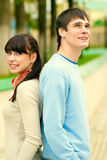Two enamoured laugh Stock Photography