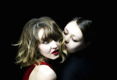 Two enamoured women Royalty Free Stock Image