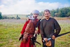Two enemies posing Stock Photos