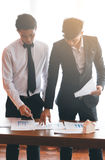 Two engineer. Or businessman working together Stock Photos