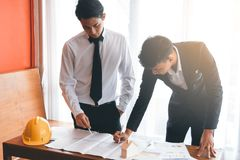 Two engineer working together. Two engineer or businessman working together Royalty Free Stock Photos