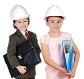 Two engineer futures Royalty Free Stock Image