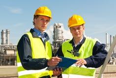 Two engineers stock photo