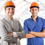 Two engineers Stock Image