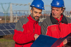 Two Engineers at Work Royalty Free Stock Images