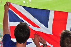 Two of England's fans Royalty Free Stock Photo