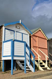 Two English beach huts Stock Photography