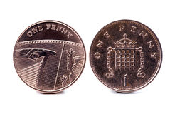 Two English one penny stock photo
