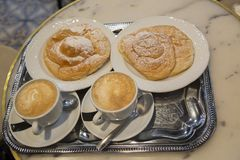 Free Two Ensaimada Pastries Stock Photos - 111177433